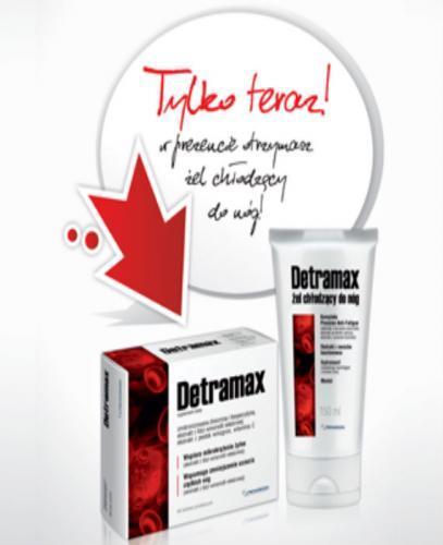 DETRAMAX - 60 tabl. + DETRAMAX Żel chłodzący do nóg -  75 ml