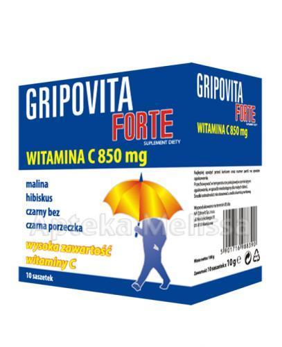 GRIPOVITA FORTE - 10 sasz. - przeziębienie - cena, opinie, właściwości - Apteka internetowa Melissa