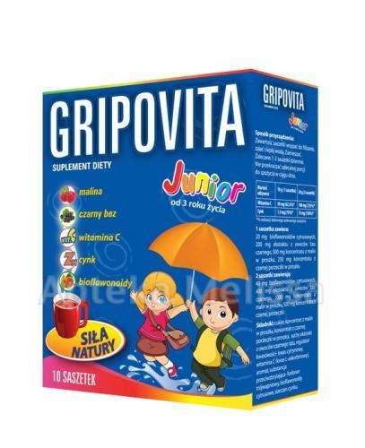 GRIPOVITA JUNIOR - 10 sasz. - odporność - cena, opinie, wskazania - Apteka internetowa Melissa