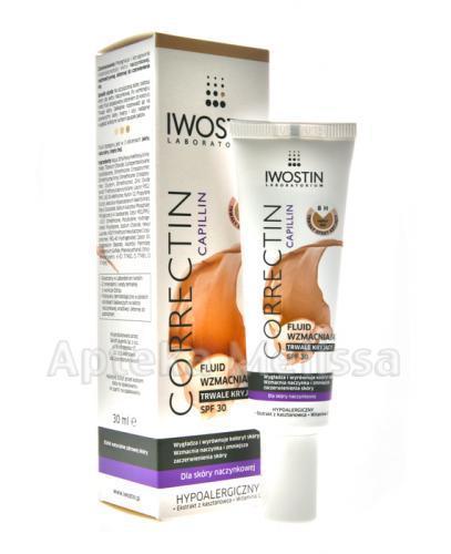 IWOSTIN CORRECTIN CAPILLIN Fluid wzmacniający trwale kryjący odcień ciepły beż - 30 ml - Apteka internetowa Melissa