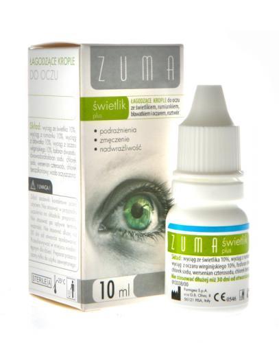 ZUMA ŚWIETLIK PLUS Łagodzące krople do oczu - 10 ml  - Drogeria Melissa