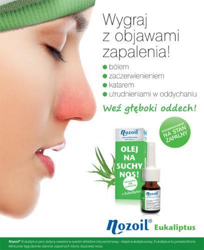 NOZOIL EUKALIPTUS Naturalny olej sezamowy na suchy nos - 10 ml - Apteka internetowa Melissa