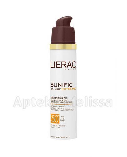 LIERAC SUNIFIC EXTREME Komfortowy krem z bardzo wysoką ochroną SPF50  do twarzy i dekoltu - 50 ml - Apteka internetowa Melissa