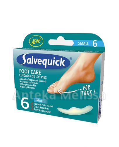 SALVEQUICK FOOT CARE Plastry na pęcherze i otarcia Small - 6 szt.  - Apteka internetowa Melissa