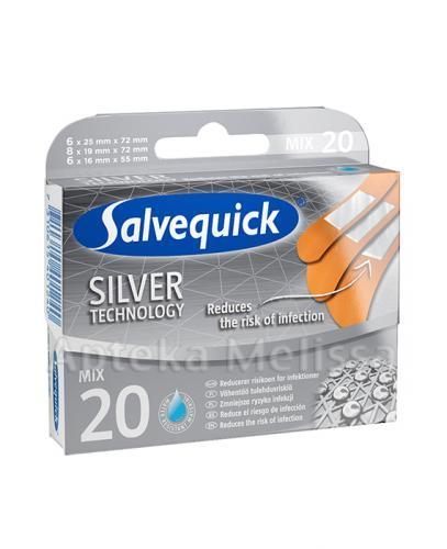 SALVEQUICK SILVER TECHNOLOGY Plaster polietylenowy, opatrunkowy z hipoalergicznym klejem - 20 szt. - Apteka internetowa Melissa