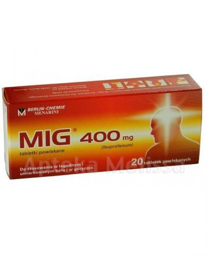 MIG 400 mg - ibuprofen 20 tabl. - Apteka internetowa Melissa