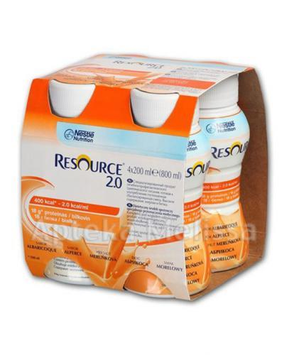 RESOURCE 2.0 Smak morelowy - 4 x 200 ml