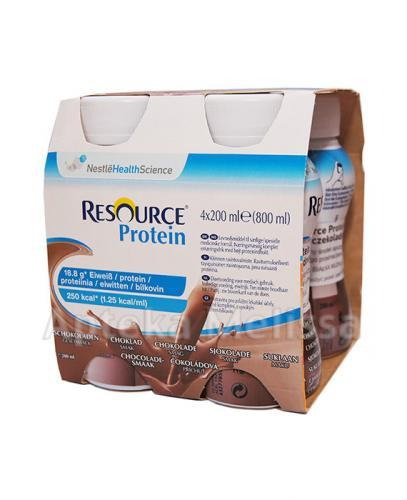 NESTLE RESOURCE PROTEIN Smak czekoladowy - 4 x 200 ml