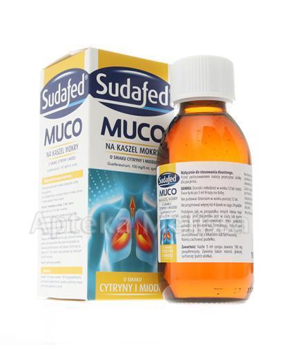SUDAFED MUCO Na kaszel mokry o smaku cytryny i miodu - 150 ml  - Apteka internetowa Melissa