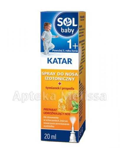 SOLBABY KATAR 1+ Spray do nosa izotoniczny - 20 ml - Apteka internetowa Melissa