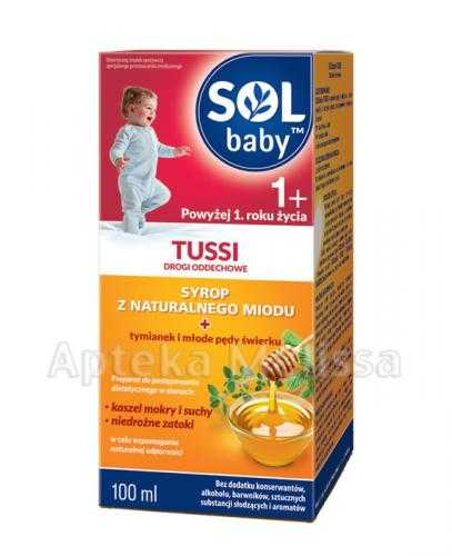 SOLBABY TUSSI 1+ Syrop z naturalnego miodu - 100 ml