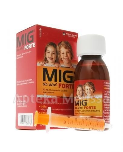 MIG DLA DZIECI FORTE Zawiesina doustna 40 mg/ml - 100 ml - Apteka internetowa Melissa