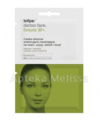 TOŁPA DERMO FACE FUTURIS 30+ Maska-ekspres witalizująco-nawilżająca na twarz, szyję, dekolt i biust - 12 ml - Apteka internetowa Melissa