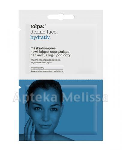 TOŁPA DERMO FACE HYDRATIV Maska-kompres nawilżająco-odprężająca na twarz i pod oczy - 12 ml  - Apteka internetowa Melissa