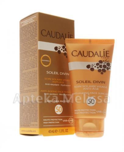 CAUDALIE SOLEIL DIVIN Krem przeciwzmarszczkowy z wysoką ochroną przeciwsłoneczną SPF50 - 40 ml 059 - Apteka internetowa Melissa