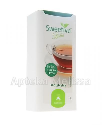 SWEETIVA Słodzik z rośliny stevia - 500 tabl.   - Apteka internetowa Melissa