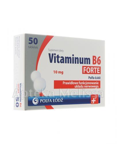 VITAMINUM B6 FORTE 10 mg - 50 tabl. - Apteka internetowa Melissa