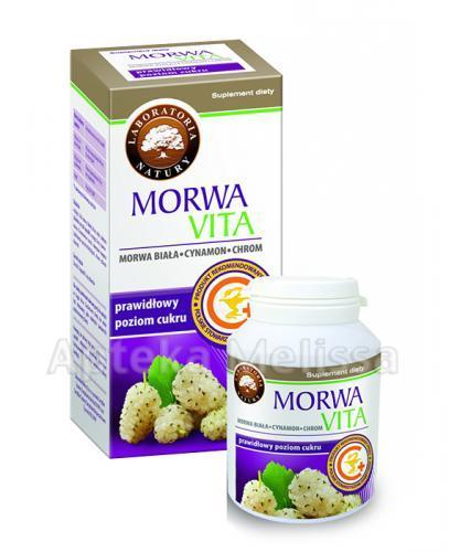 MORWA VITA Pomaga utrzymać prawidłowy poziom cukru - 90 kaps. - Drogeria Melissa