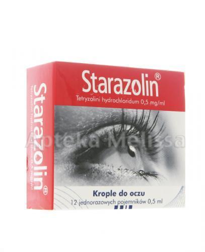 STARAZOLIN Krople do oczu w jednorazowych pojemnikach - 12 x 0,5 ml - Apteka internetowa Melissa