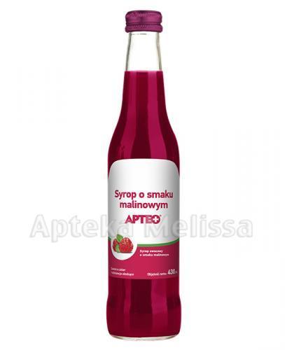 APTEO Syrop o smaku malinowym - 430 ml - Apteka internetowa Melissa