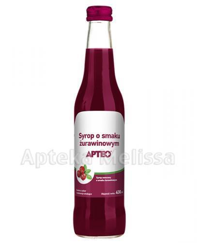 APTEO Syrop o smaku żurawinowym - 430 ml