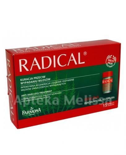 FARMONA RADICAL Kuracja przeciw wypadaniu włosów w ampułkach - 15 amp. a 5 ml - Apteka internetowa Melissa