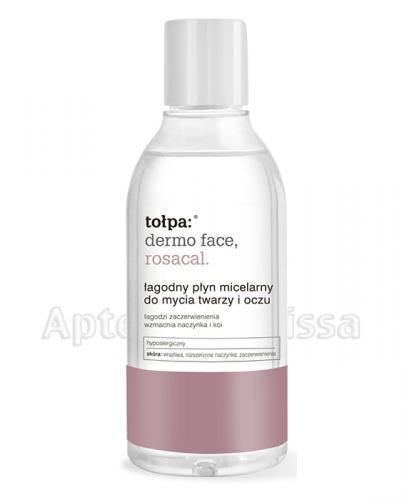 TOŁPA DERMO FACE ROSACAL Łagodny płyn micelarny do mycia twarzy i oczu - 200 ml - Apteka internetowa Melissa