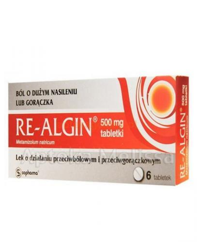 RE-ALGIN 500 mg - 6 tabl. - Apteka internetowa Melissa