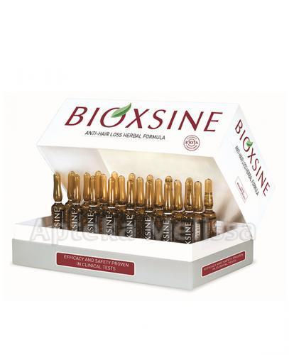 BIOXSINE Serum ziołowe przeciw wypadaniu włosów - 24 amp. +  BIOXSINE szampon - 18 ml (3x6ml) - Apteka internetowa Melissa
