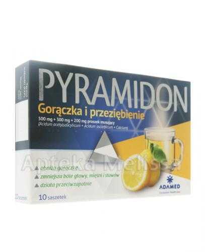 PYRAMIDON Gorączka i przeziębienie - 10 sasz.   – Apteka internetowa Melissa