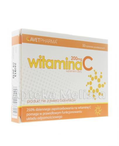 WITAMINA C 200 mg - 50 tabl. - Apteka internetowa Melissa