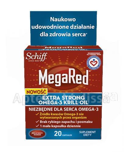 MEGARED EXTRASTRONG OMEGA 3 KRILL OIL - 20 kaps. - Apteka internetowa Melissa