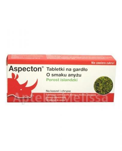 ASPECTON Tabletki do ssania o smaku anyżu - 30 tabl. - Apteka internetowa Melissa