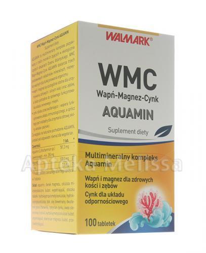 WALMARK WMC AQUAMIN Wapń-Magnez-Cynk - 100 tabl. - Apteka internetowa Melissa