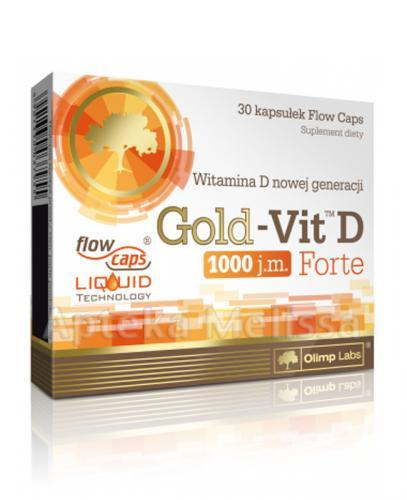 OLIMP GOLD-VIT D FORTE 1000 IU - 30 kaps. Data ważności: 2016.12.31