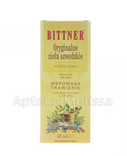 BITTNER Oryginalne zioła szwedzkie - 50 ml - Apteka internetowa Melissa