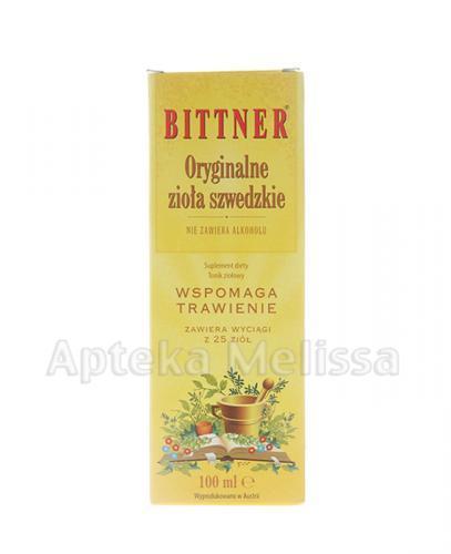 BITTNER Oryginalne zioła szwedzkie - 100 ml - Apteka internetowa Melissa