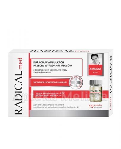 IDEEPHARM RADICAL MED Kuracja w ampułkach przeciw wypadaniu włosów dla mężczyzn - 15 amp. - Apteka internetowa Melissa