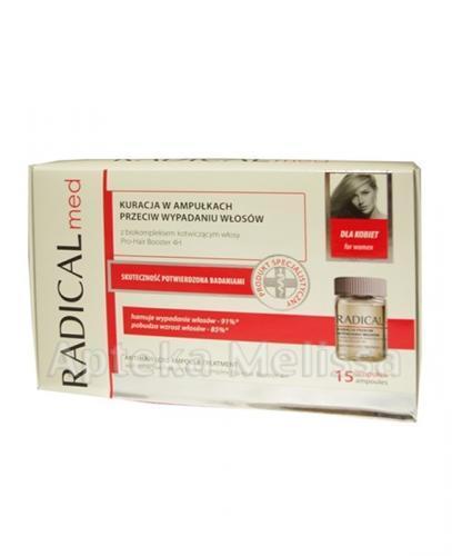 IDEEPHARM RADICAL MED Kuracja w ampułkach przeciw wypadaniu włosów dla kobiet - 15 amp. - Apteka internetowa Melissa