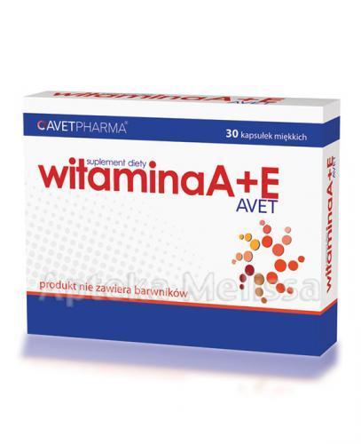 AVET WITAMINA A+E - 30 kaps.