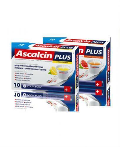 ASCALCIN PLUS Cytrynowy - 10 sasz.