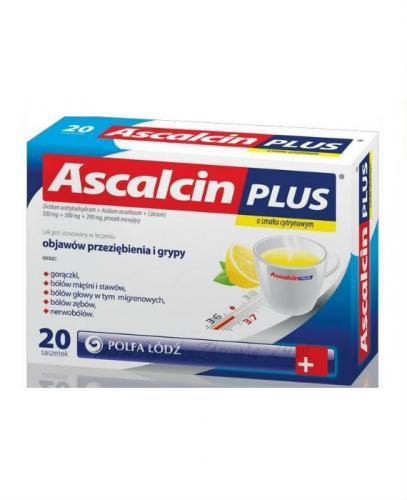 ASCALCIN PLUS Cytrynowy - 20 sasz. - Apteka internetowa Melissa