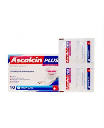 ASCALCIN PLUS Malinowy - 10 sasz.