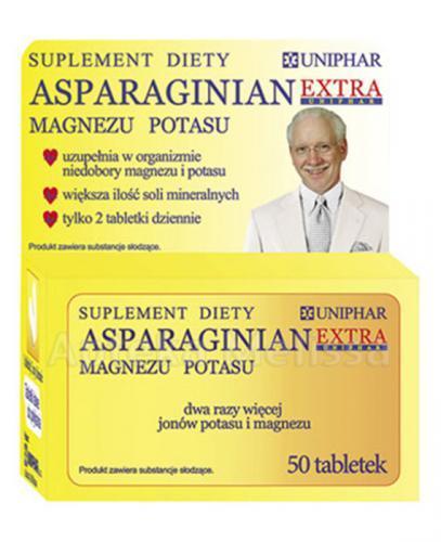 ASPARAGINIAN UNIPHAR Magnezu-potasu - 50 tabl. - Apteka internetowa Melissa