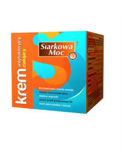 SIARKOWA MOC Krem antybakteryjny, matujący - 50 ml