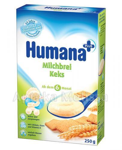 HUMANA Kaszka mleczna z herbatnikiem - 250 g  - Apteka internetowa Melissa
