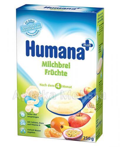 HUMANA Kaszka mleczna z owocami - 250 g - Apteka internetowa Melissa