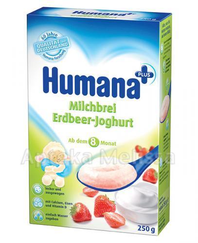 HUMANA Kaszka mleczna z jogurtem i truskawkami - 250 g