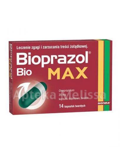 BIOPRAZOL BIO MAX 20 mg - 14 kaps. - Apteka internetowa Melissa
