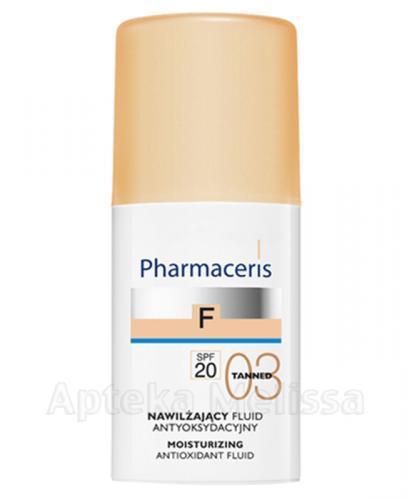 PHARMACERIS F Nawilżający fluid antyoksydacyjny z sylimaryną SPF20 03 tanned -  30 ml - Apteka internetowa Melissa